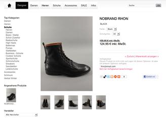 Produktseite Webshop