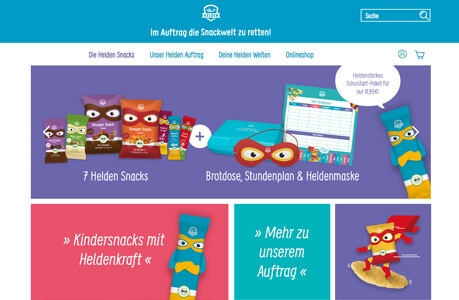 heldensnacks.de - Webdesign Berlin
