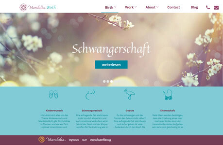 mandalia-birth.de - Webdesign Berlin