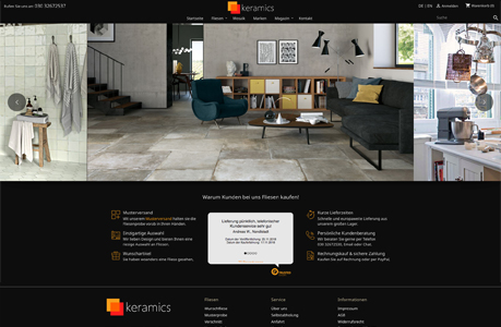 keramics.com - Webdesign Berlin